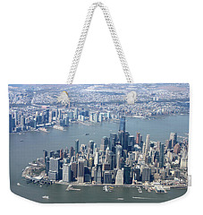 Downtown Manhattan Weekender Tote Bag by Suhas Tavkar