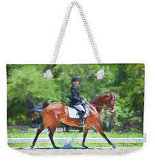 Equestrian Event Rocking Horse Stables Painted  Weekender Tote Bag