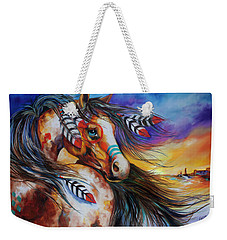 5 Feathers Indian War Horse Weekender Tote Bag