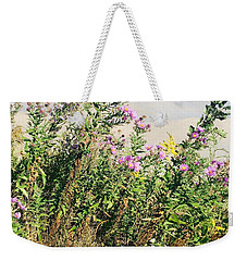 Weekender Tote Bag featuring the photograph Flowers by Artistic Panda