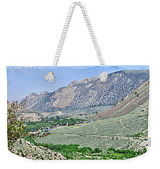 High Up Weekender Tote Bag by Marilyn Diaz