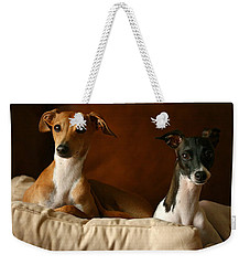 Italian Greyhounds Weekender Tote Bag