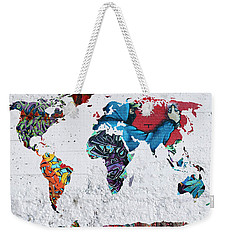 Map Of The World Weekender Tote Bag by Mark Ashkenazi