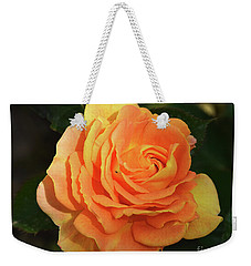Weekender Tote Bag featuring the photograph Orange Rose by Elvira Ladocki