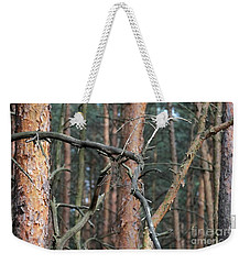 Weekender Tote Bag featuring the photograph Pine Trees by Dariusz Gudowicz