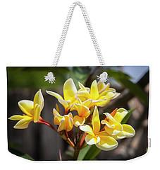 Plumeria Frangipani Hawaiian Flower  Weekender Tote Bag