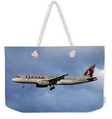 Qatar Airways Airbus A320-232 Weekender Tote Bag