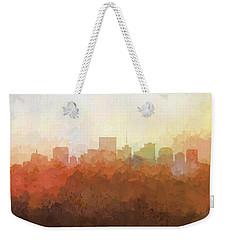Weekender Tote Bag featuring the digital art Richmond Virginia Skyline by Marlene Watson