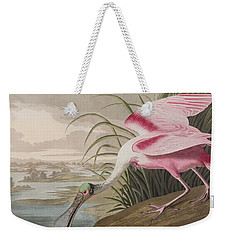 Roseate Spoonbill Weekender Tote Bag by John James Audubon
