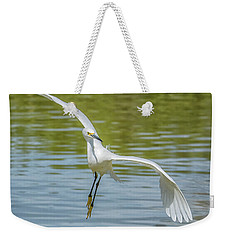 Snowy Egret Flight Weekender Tote Bag by Tam Ryan