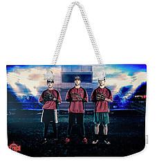 Weekender Tote Bag featuring the digital art Southwest Aztecs Baseball Organization by Nicholas Grunas