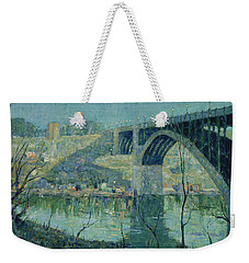 Spring Night, Harlem River Weekender Tote Bag