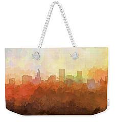 Weekender Tote Bag featuring the digital art St Paul Minnesota Skyline by Marlene Watson