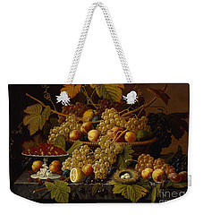 Still Life With Fruit Weekender Tote Bag by Severin Roesen
