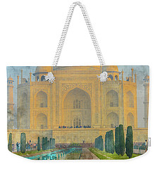 Taj Mahal In Agra India Weekender Tote Bag