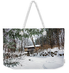 Tannery Hill Covered Bridge Weekender Tote Bag