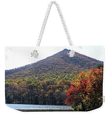 View Of Abbott Lake And Sharp Top In Autumn Weekender Tote Bag