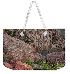 Weekender Tote Bag featuring the photograph Wichita Mountains by Iris Greenwell