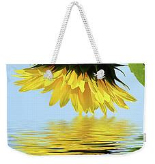Nice Sunflower Weekender Tote Bag by Elvira Ladocki