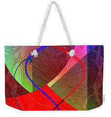 504 - Patterns  2017 Weekender Tote Bag by Irmgard Schoendorf Welch