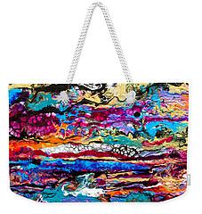 #521  Bright Swipe Weekender Tote Bag