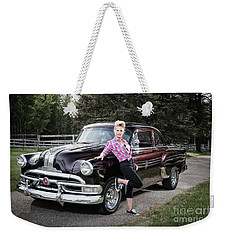 Weekender Tote Bag featuring the photograph 53 Pontiac by Brad Allen Fine Art