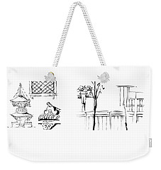 5.3.japan-1-details-roof-and-fence Weekender Tote Bag