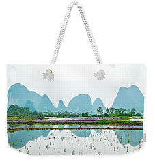 Karst Rural Scenery In Spring Weekender Tote Bag