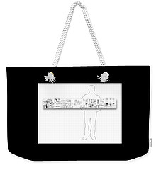 5.5.japan-2-horizontal-with-figure Weekender Tote Bag