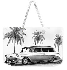 56 Chevy Wagon Weekender Tote Bag