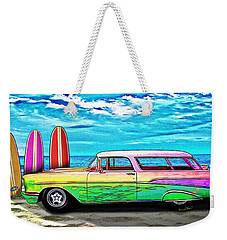 57 Chevy Nomad Wagon Best Part Of Waking Up Weekender Tote Bag