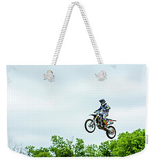Weekender Tote Bag featuring the photograph 573 Flying High At White Knuckle Ranch by David Morefield