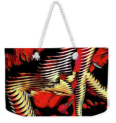 5787s-mak Nude Woman Art Rendered In Red Palette Knife Style Weekender Tote Bag