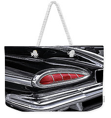 59 Chevy Tail Light Detail Weekender Tote Bag by Gary Warnimont