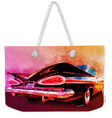 59 Chevy Ticket To Ride Watercolour Weekender Tote Bag