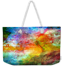 5a Abstract Expressionism Digital Painting Weekender Tote Bag