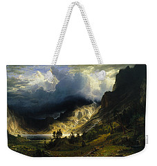 A Storm In The Rocky Mountains, Mt. Rosalie Weekender Tote Bag