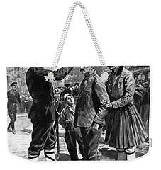 Weekender Tote Bag featuring the drawing Balkan War, 1912 by Granger