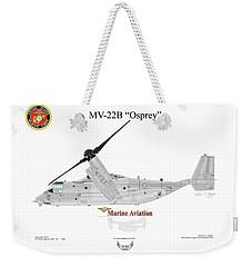 Weekender Tote Bag featuring the digital art Bell Boeing Mv-22b Osprey by Arthur Eggers