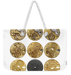Clockwork Mechanism Weekender Tote Bag by Michal Boubin