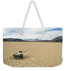 Weekender Tote Bag featuring the photograph Death Valley Racetrack by Breck Bartholomew