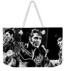 Elvis Weekender Tote Bag by Marvin Blaine