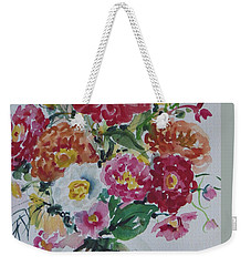 Floral Still Life Weekender Tote Bag