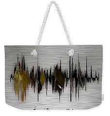 Inspirational Soundwave Message Weekender Tote Bag
