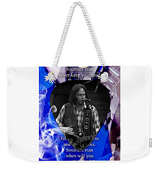 Neil Young Art Weekender Tote Bag