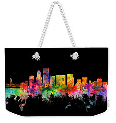 Portland Oregon Skyline Weekender Tote Bag