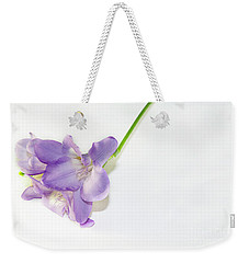 Purple Freesia Weekender Tote Bag