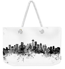 Seattle Washington Skyline Weekender Tote Bag by Michael Tompsett