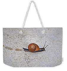 Weekender Tote Bag featuring the photograph 6- Snail by Joseph Keane