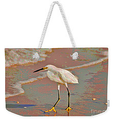 Weekender Tote Bag featuring the photograph 6- Snowy Egret by Joseph Keane